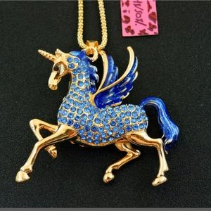 Betsy Johnson Unicorn Necklace